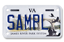 James River Park System Motorcycle Plate