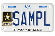Army (Motorcycle) Plate