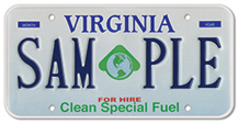 Clean Special Fuel (For Hire) Plate
