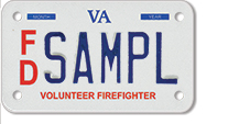Firefighter (volunteer) Motorcycle Plate