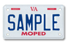 Moped Plate