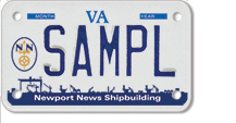 Newport News Shipbuilding Motorcycle Plate