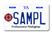 Professional Firefighter-Int'l Motorcycle Plate