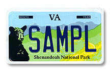 Shenandoah National Park Motorcycle Plate
