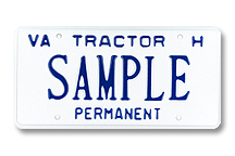Tractor For Hire Permanent Plate