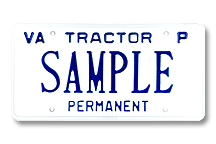 Tractor Private Permanent Plate