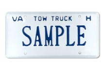 Tow Truck (For Hire) Plate