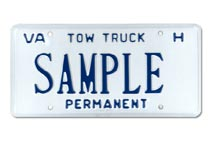Tow Truck  For Hire Permanent Plate