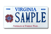 Veterans of Foreign Wars Plate