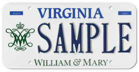 College of William & Mary Plate