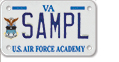 United States Air Force Academy Motorcycle Plate