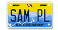 Blue Ridge Parkway Motorcycle Plate