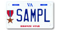 Bronze Star Motorcycle Plate