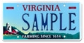 Virginia Agriculture Plate