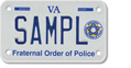 Fraternal Order of Police Motorcycle Plate