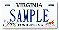 Fox Hunting License Plate Plate
