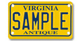 Motorcycle Antique (yellow) Plate