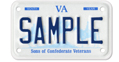 Sons of Confederate Veterans - Motorcycle Plate