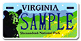 Shenandoah National Park Plate