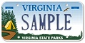 Virginia State Parks Plate