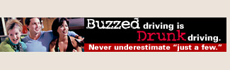 Buzzed driving is drink driving. Never underestimate just a few.