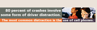 80 percent of crashes involve some form of driver distraction.