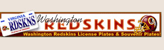 Washington Redskins license plates and souvenir plates!