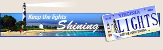 Keep the lights shining! Lighthouse license plates.