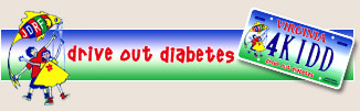 Drive Out Diabetes license plates