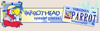 Parrotheads special plates!