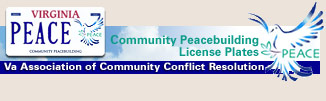 Community Peacebuilding license plates