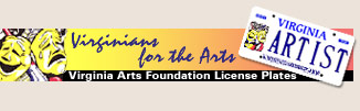 Virginians for the Arts license plates
