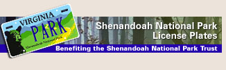 Shenandoah National Park license plates
