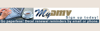 Go paperless! Decal renewal reminders by email or phone. Sign up today!
