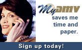 MyDMV saves me time and paper. Sign up today!
