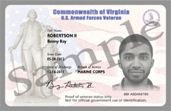 sample Vet ID Card