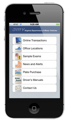DMV's new app for iPhone