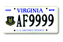 Air Force Reserve Plate