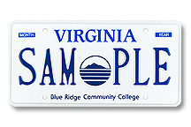 Blue Ridge Community College Plate