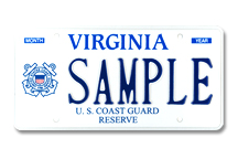 Coast Guard Reserve Plate