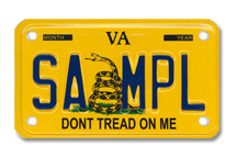 Don't Tread On Me Motorcycle Plate