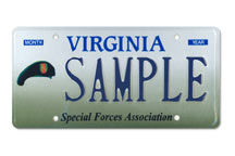 Special Forces Association Plate