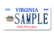 Harley Davidson Owners Group Plate