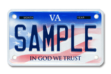 In God We Trust Motorcycle Plate