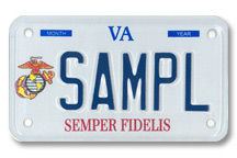 Marine Corps Motorcycle Plate