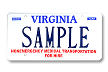 Nonemergency Medical Transport For Hire Plate