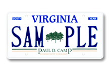 Paul D Camp Community College Plate