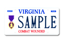 Purple Heart Plate