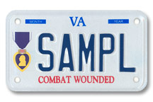 Purple Heart Motorcyle Plate