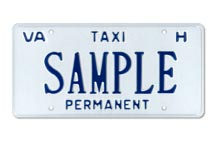 Taxi Permanent (For Hire) Plate